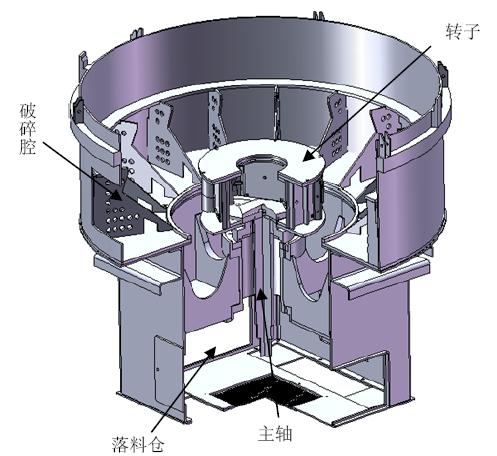 结构_巴马克立轴冲击式破碎机结构及破碎系统